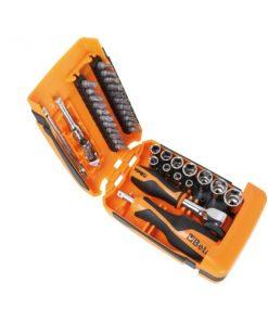 BETA 900/C39-R Assortimento di 11 chiavi a bussola esagonali, 21 inserti e 7 accessori