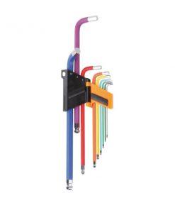 BETA 96BP-CO/SC9 Serie di 9 chiavi maschio esagonale piegate colorate_1