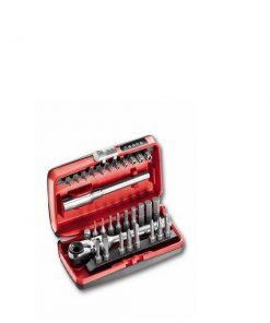Usag 606 1/4 SK - Assortimento inserti con cricchetto reversibile (31 pz)
