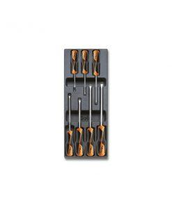 ETA T199 Termoformato rigido con assortimento di utensili, 7cacciaviti lama piatta