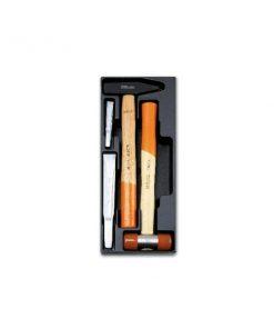 BETA T234 Termoformato rigido con assortimento di 4 utensili, martelli, mazzuole e scalpelli
