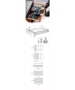 BETA T46 Termoformato rigido con assortimento di 12 utensili