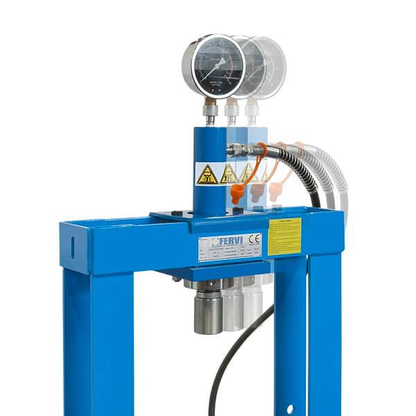 Fervi p001 10 pressa manuale idraulica da banco con for Pressa idraulica manuale